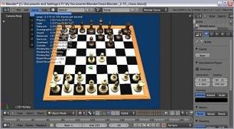 Chess based on Blender game engine
